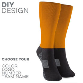 Printed Mid-Calf Socks - Team Socks Solid