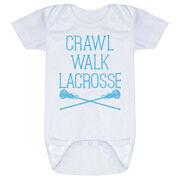 Girls Lacrosse Baby One-Piece - Crawl Walk Lacrosse