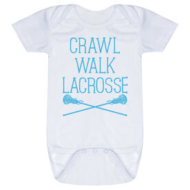 Girls Lacrosse Baby One-Piece - Crawl Walk Lacrosse