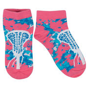 Girls Lacrosse Ankle Socks - Island Flower Lax