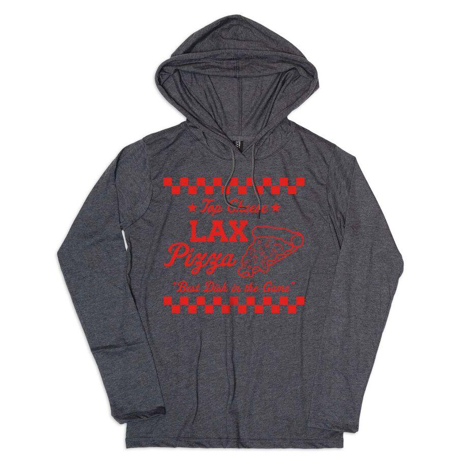 Women's Lacrosse Lightweight Hoodie - Lax Pizza