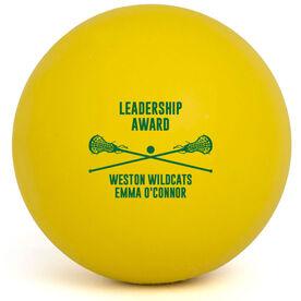 Girls Lacrosse Ball - Team Award with Crossed Sticks