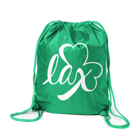 Girls Lacrosse Sport Pack Cinch Sack - Lax Shamrock