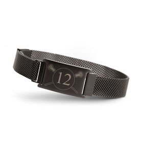 Lacrosse Adjustable Stainless Steel Magnetic Bracelet - Custom Number