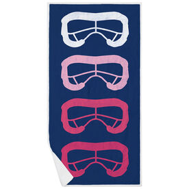 Girls Lacrosse Premium Beach Towel - Lax Goggles