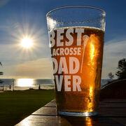 16 oz. Beer Pint Glass Best (Girls) Lacrosse Dad Ever