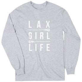 Girls Lacrosse Long Sleeve T-Shirt - Lax Girl Life