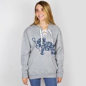 Girls Lacrosse Sport Lace Sweatshirt Lax Elephant