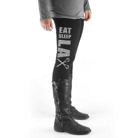 Lacrosse High Print Leggings Eat Sleep Lax