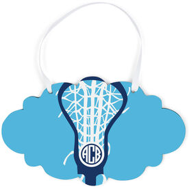 Girls Lacrosse Cloud Sign - Monogrammed Lax is Life