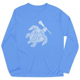 Girls Lacrosse Long Sleeve Performance Tee - Lax Turtle