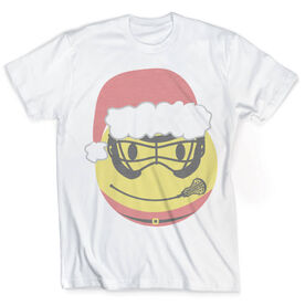 Vintage Girls Lacrosse T-Shirt - Smiley Face Santa