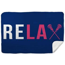 Girls Lacrosse Sherpa Fleece Blanket Relax