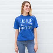 Girls Lacrosse T-Shirt Short Sleeve Lax Hair Don't Care