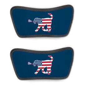 Girls Lacrosse Repwell™ Sandal Straps - Patriotic Lula the Lax Dog