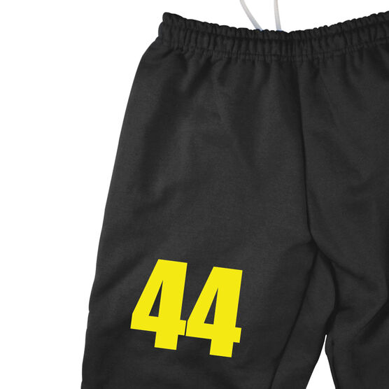Lacrosse Word In Stick Fleece Sweatpants