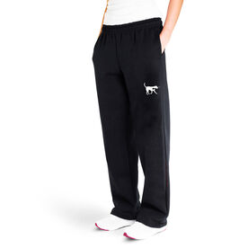 Girls Lacrosse Fleece Sweatpants - Lula The Lax Dog