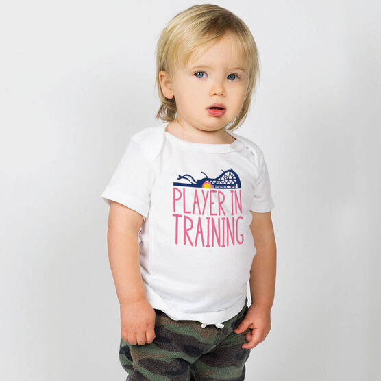 Girls Lacrosse Baby T-Shirt - Player In Training