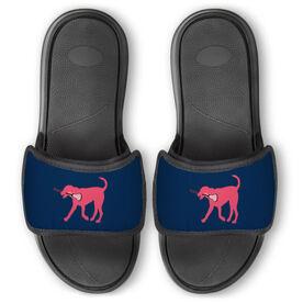 Girls Lacrosse Repwell™ Slide Sandals - Lula the Lax Dog