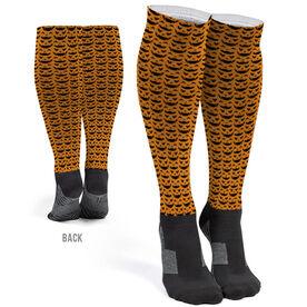 Printed Knee-High Socks - Jack O Lanterns