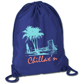 Lacrosse Sport Pack Cinch Sack Chillax'n Beach Girl