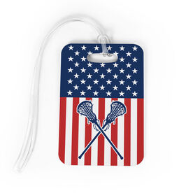 Girls Lacrosse Bag/Luggage Tag - USA Lax Girl