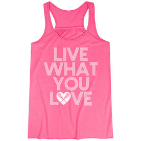 Girls Lacrosse Flowy Racerback Tank Top - Live What You Love