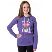 Girls Lacrosse Lightweight Hoodie - Look Like A Beauty Play Like A Beast