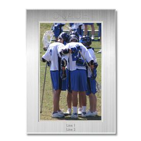 Silver Engraved Lacrosse Coach Frame 4 x 6