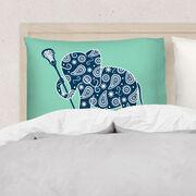 Girls Lacrosse Pillowcase - Elephant