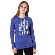 Girls Lacrosse Lightweight Hoodie - LAX Mom Life