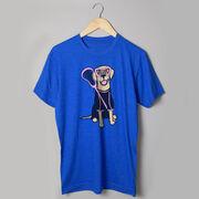 Girls Lacrosse Short Sleeve T-Shirt - Lily The Lacrosse Dog