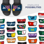 Girls Lacrosse Repwell® Sandal Straps - Stick and Number Reflected