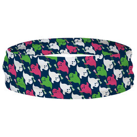 Girls Lacrosse Multifunctional Headwear - Ghosts with Lacrosse Sticks RokBAND