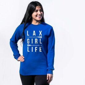 Girls Lacrosse Tshirt Long Sleeve - Lax Girl Life