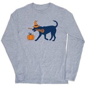 Girls Lacrosse Tshirt Long Sleeve - Lula Witch Dog