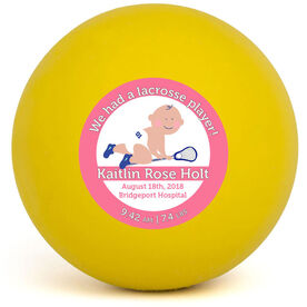 Personalized We Had A Lacrosse Player Lacrosse Ball (Yellow Ball)