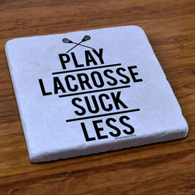 Lacrosse Natural Stone Coaster Play Lacrosse Suck Less