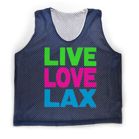 Girls Racerback Pinnie Live Love Lax