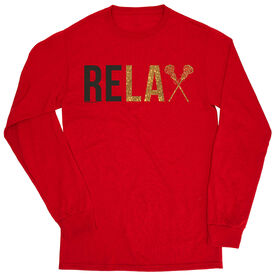 Girls Lacrosse Tshirt Long Sleeve - Relax