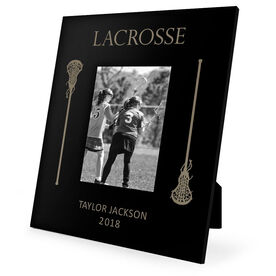 Girls Lacrosse Engraved Picture Frame - Lacrosse Sticks