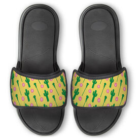 Girls Lacrosse Repwell® Slide Sandals - Cactus Lax