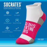 Socrates® Woven Performance Socks She Believed She Could (Fuchsia)
