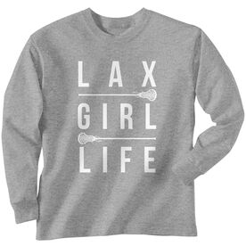 Girls Lacrosse Long Sleeve T-Shirt - Lax Girl Life