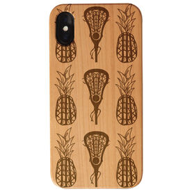 Girls Lacrosse Engraved Wood IPhone® Case - Lax Pineapples