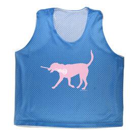 Girls Lacrosse Racerback Pinnie LuLa the Lax Dog(Pink)