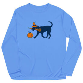 Girls Lacrosse Long Sleeve Performance Tee - Lula Witch Dog