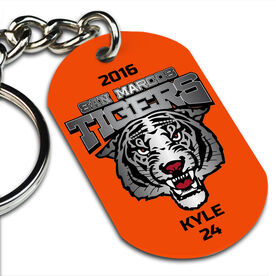 Custom Printed Dog Tag Keychains