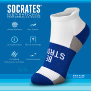 Socrates® Woven Performance Socks Be Strong (Royal)