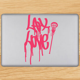 Lax Love Removable LulaGraphix Laptop Decal